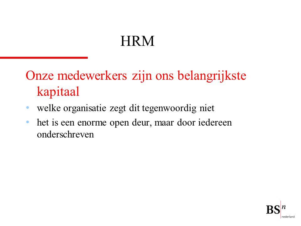 HRM Onze medewerkers zijn ons belangrijkste kapitaal