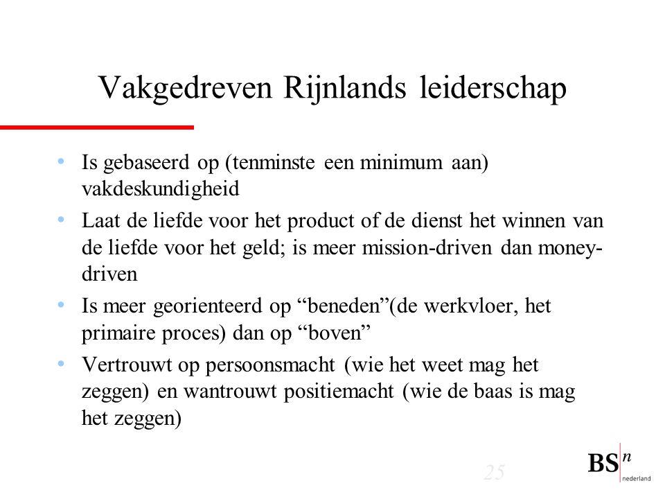 Vakgedreven Rijnlands leiderschap