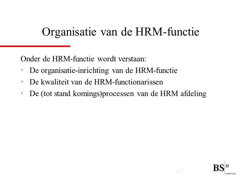 Organisatie van de HRM-functie