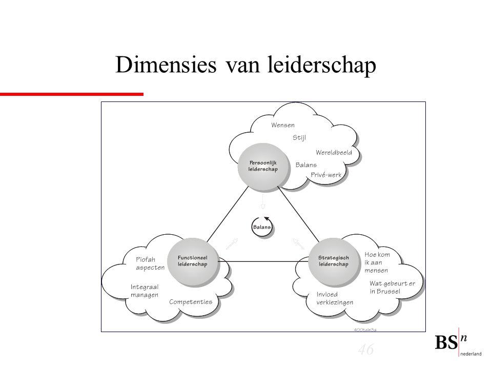 Dimensies van leiderschap