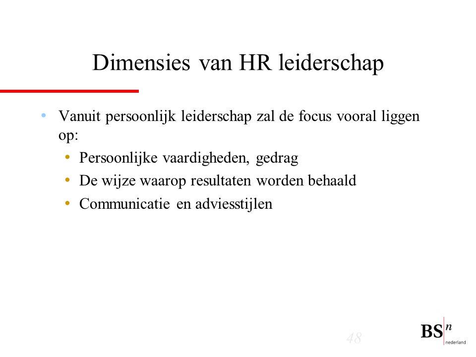 Dimensies van HR leiderschap