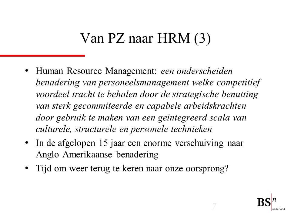 Van PZ naar HRM (3)
