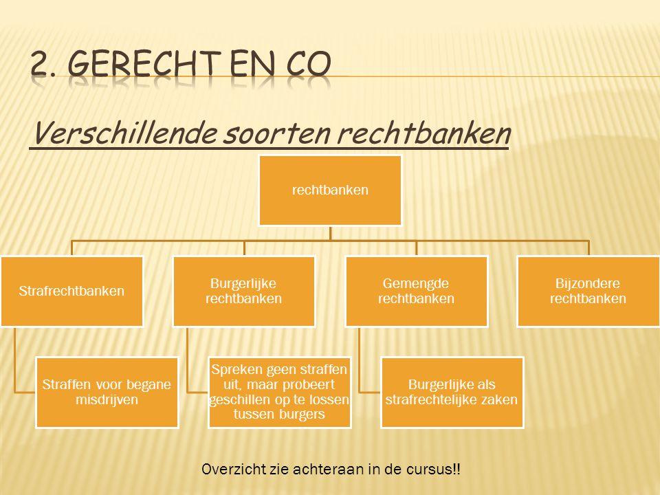 2. Gerecht en Co Verschillende soorten rechtbanken