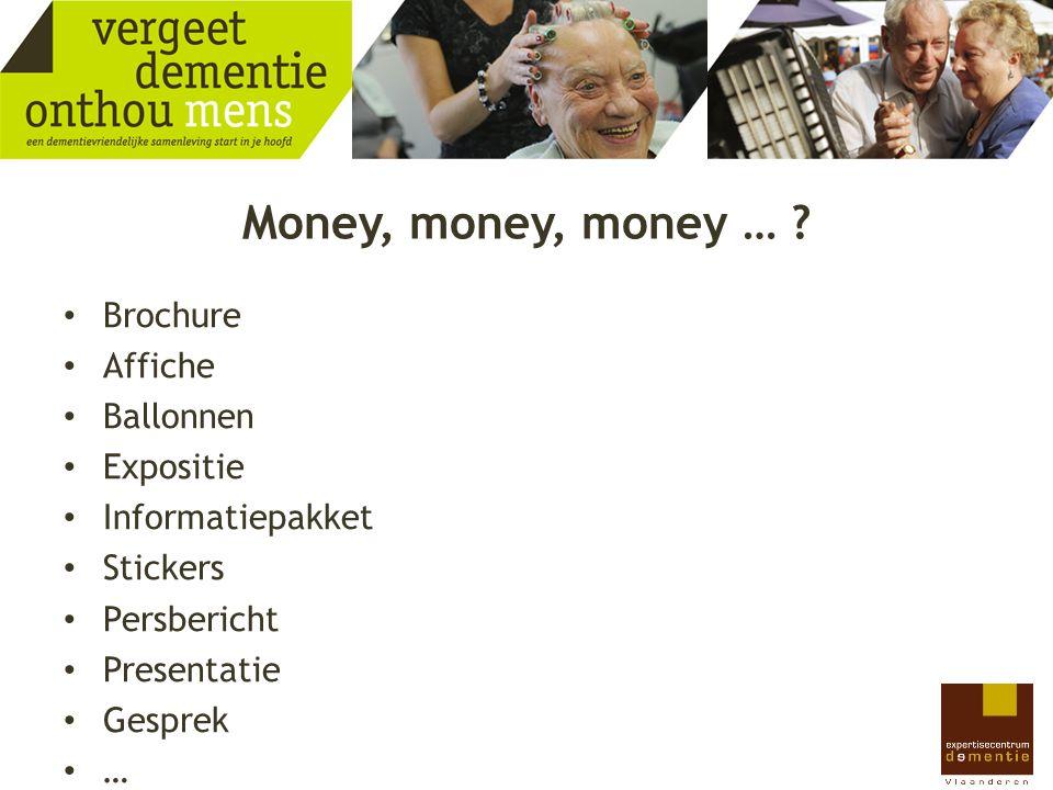 Money, money, money … Brochure Affiche Ballonnen Expositie