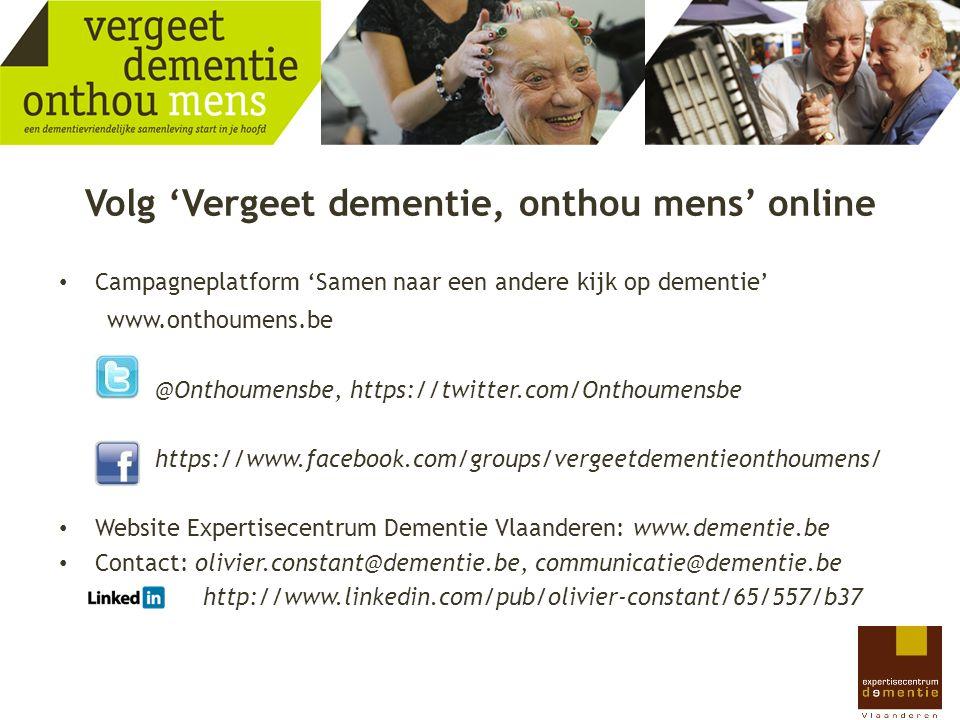 Volg 'Vergeet dementie, onthou mens' online