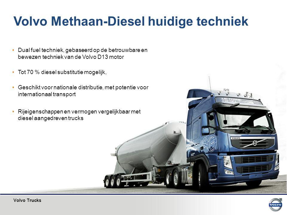 Volvo Methaan-Diesel huidige techniek