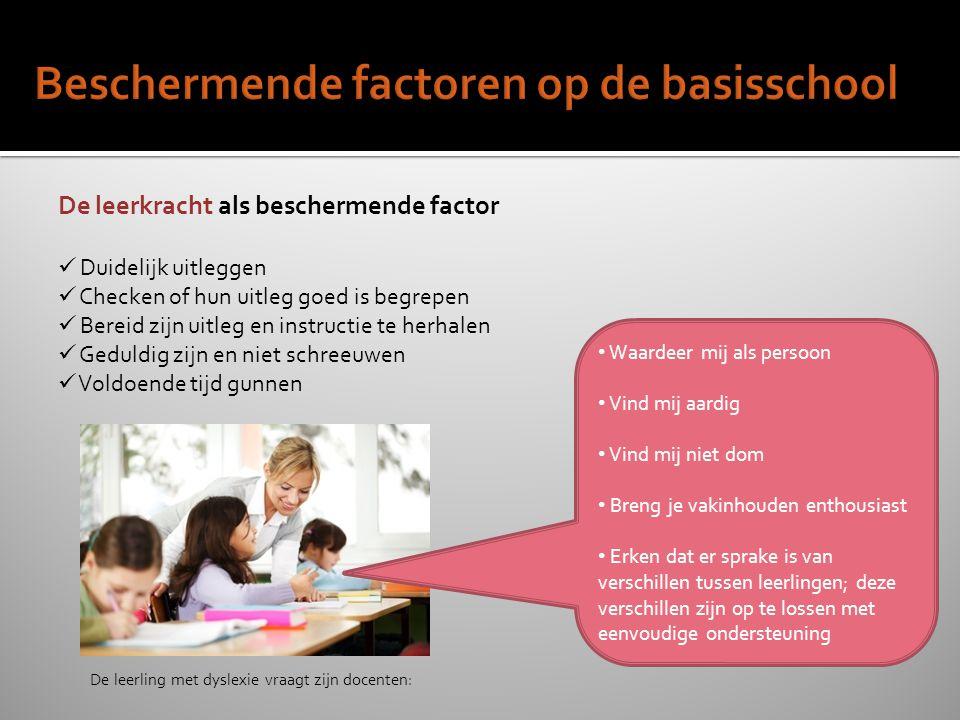 Beschermende factoren op de basisschool