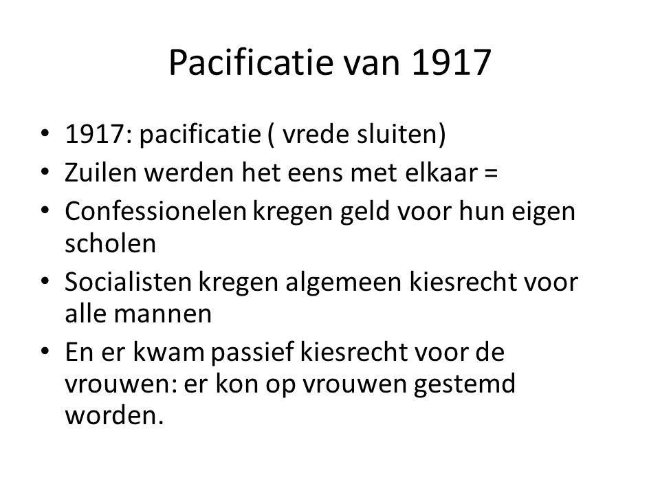 Pacificatie van 1917 1917: pacificatie ( vrede sluiten)