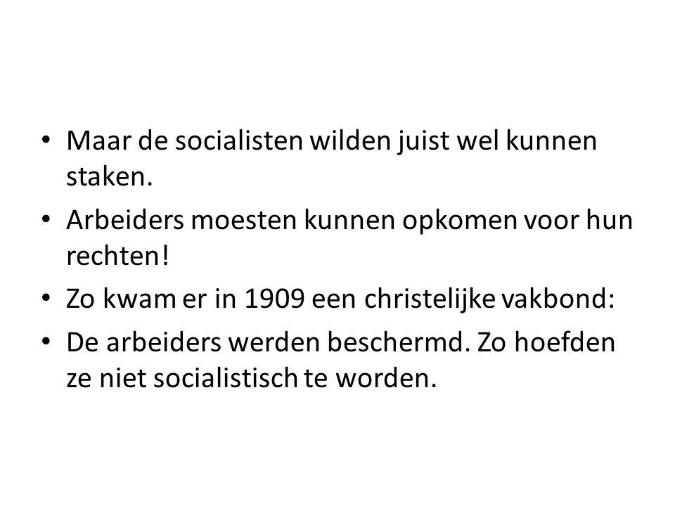 Maar de socialisten wilden juist wel kunnen staken.