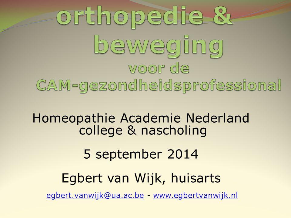 orthopedie & beweging voor de CAM-gezondheidsprofessional