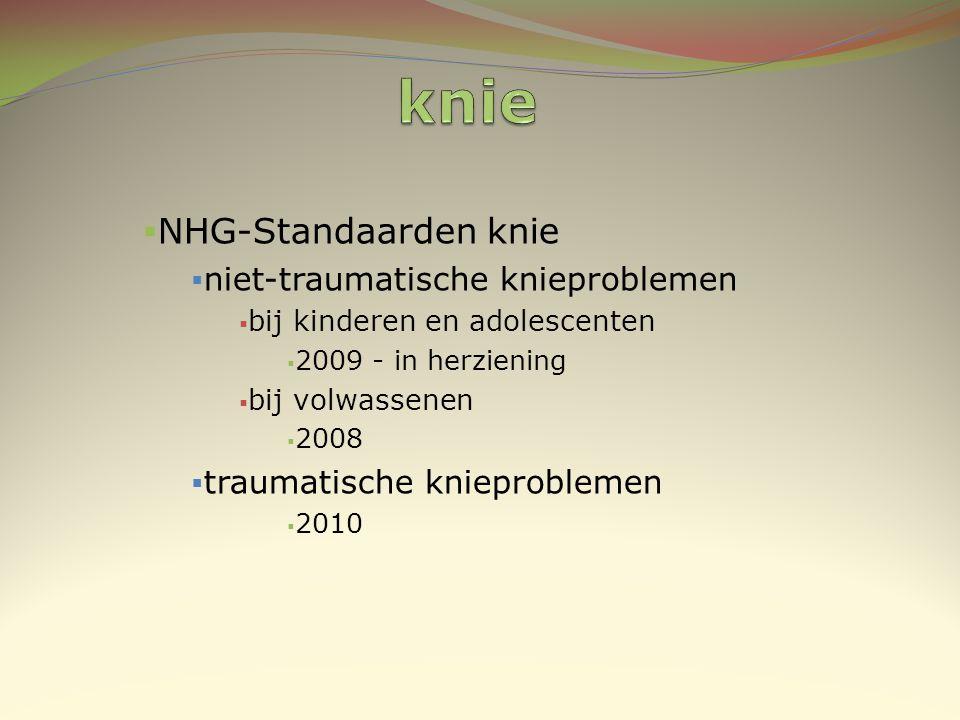knie NHG-Standaarden knie niet-traumatische knieproblemen