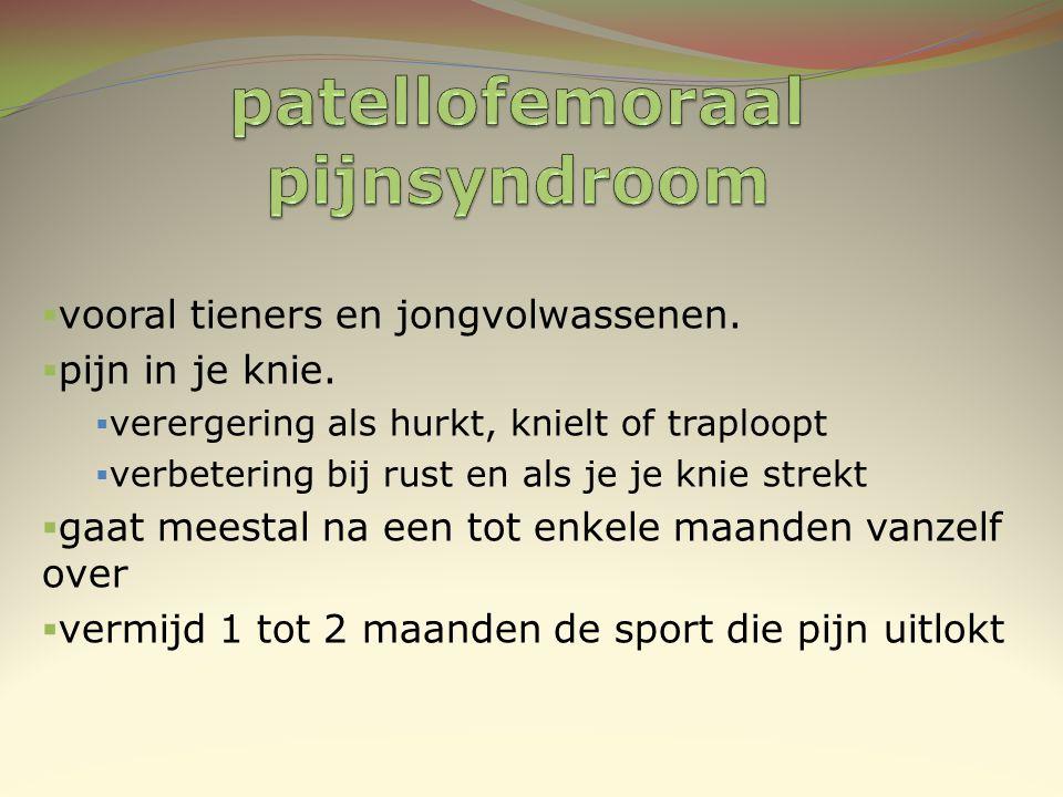 patellofemoraal pijnsyndroom