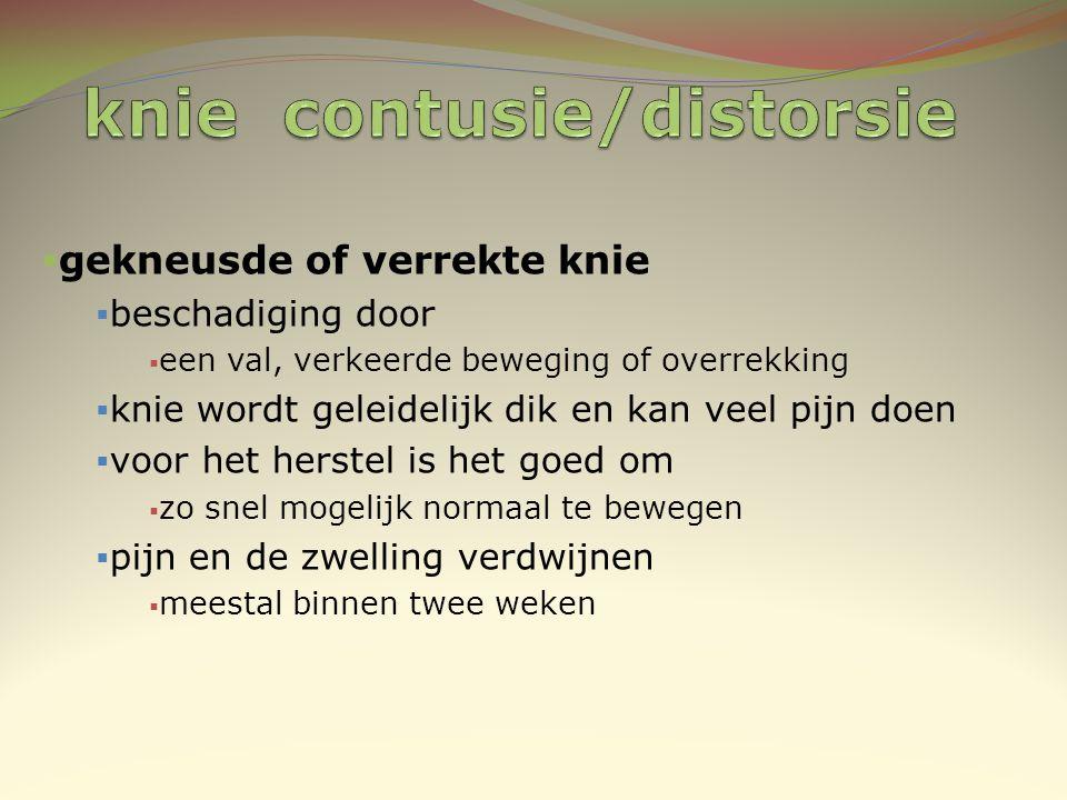 knie contusie/distorsie