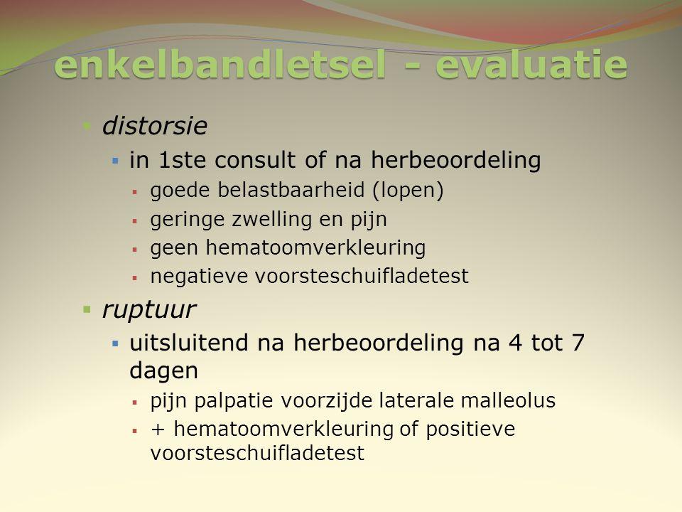 enkelbandletsel - evaluatie