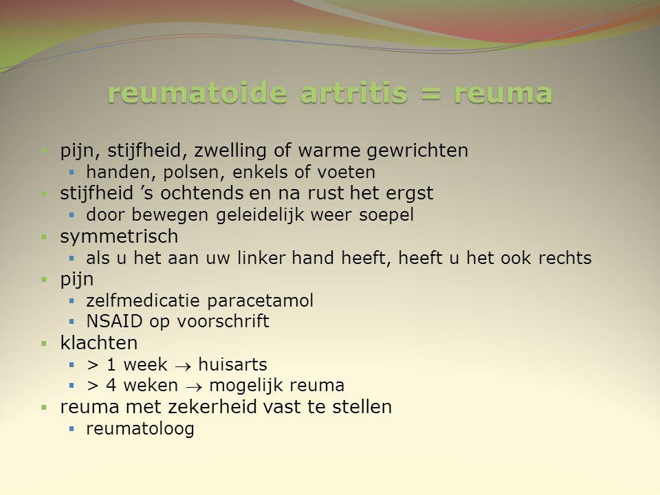 reumatoide artritis = reuma