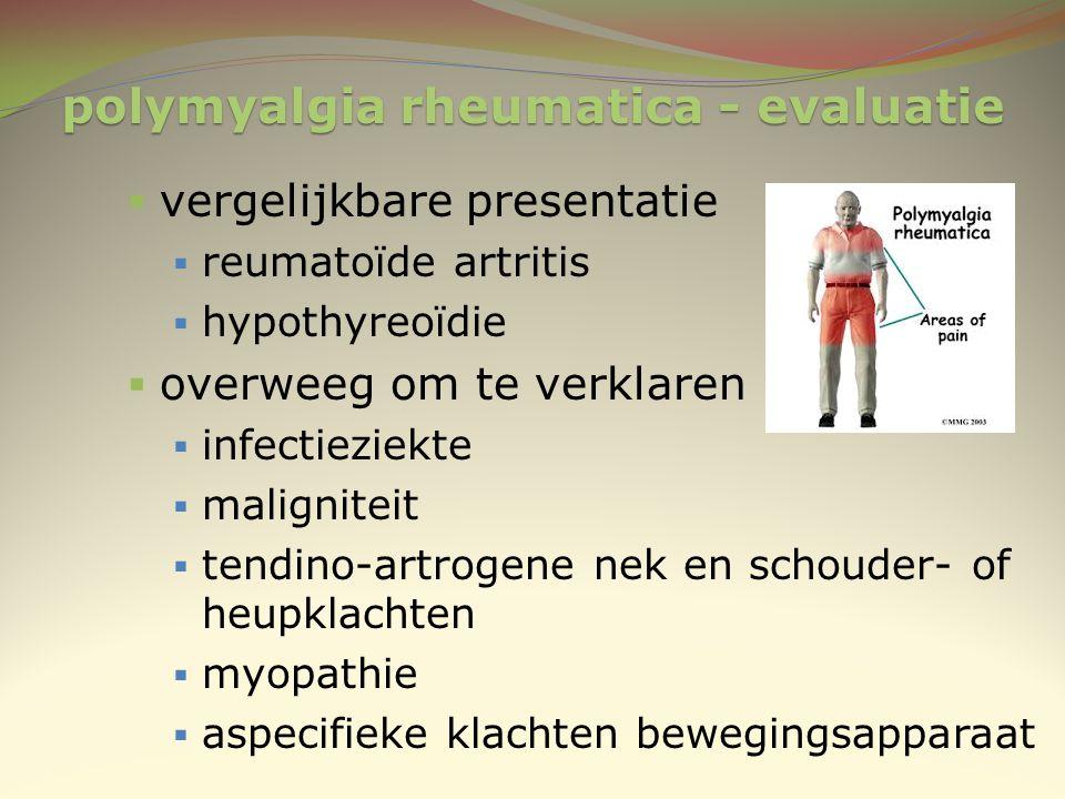 polymyalgia rheumatica - evaluatie