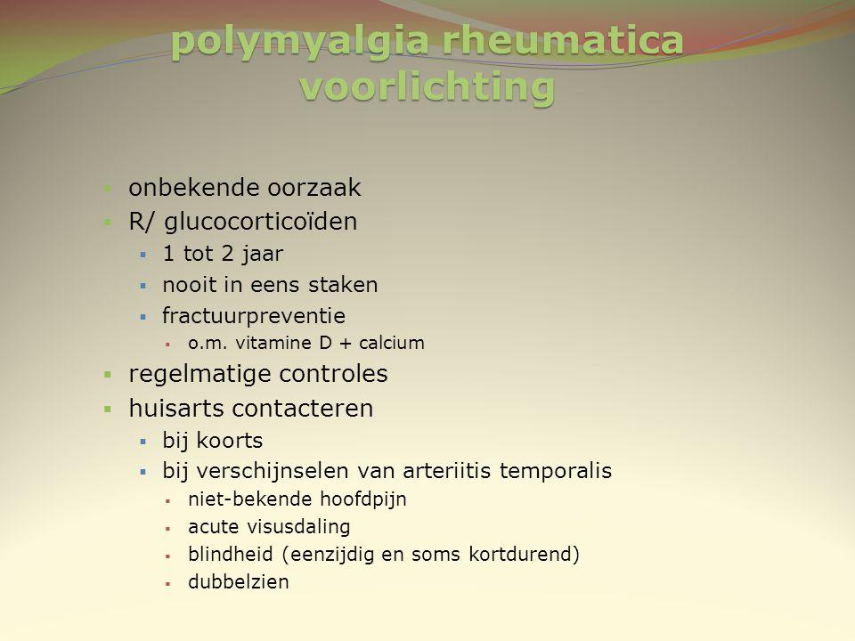 polymyalgia rheumatica voorlichting