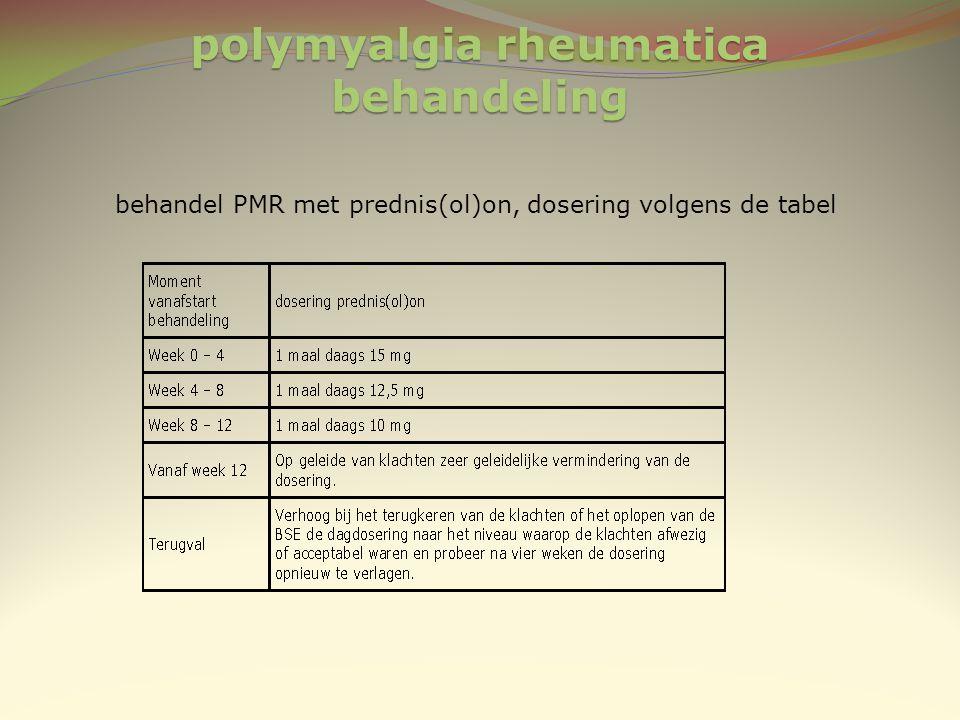 polymyalgia rheumatica behandeling