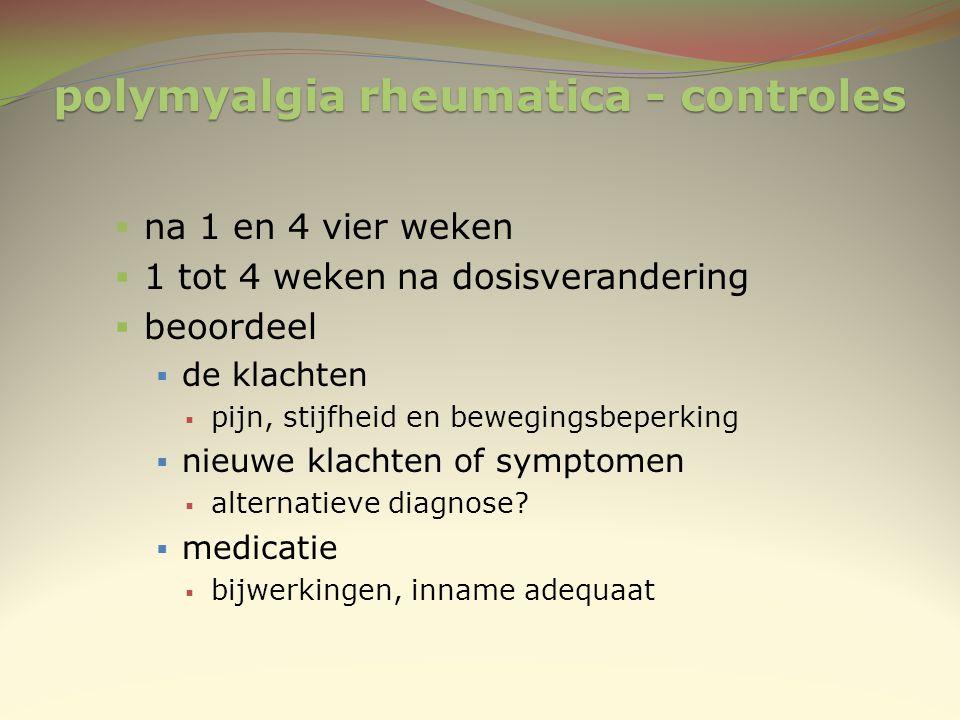 polymyalgia rheumatica - controles