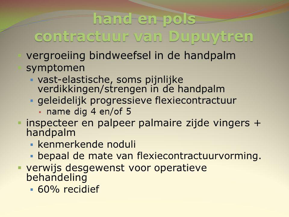 hand en pols contractuur van Dupuytren