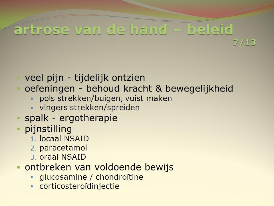 artrose van de hand – beleid 7/13
