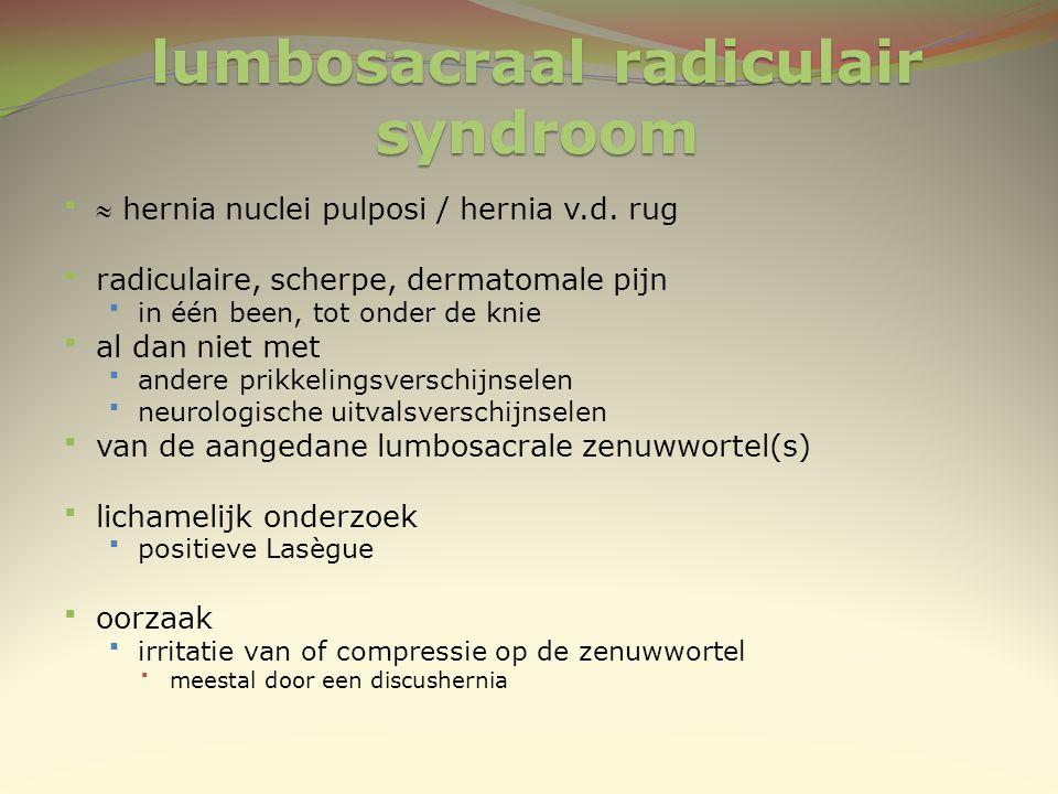 lumbosacraal radiculair syndroom