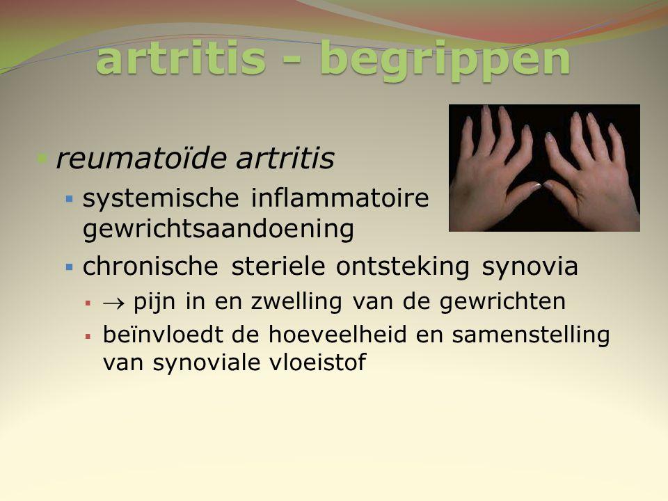 artritis - begrippen reumatoïde artritis