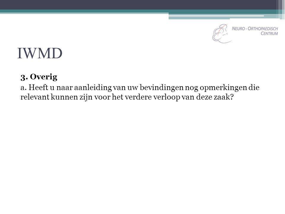 IWMD 3. Overig.