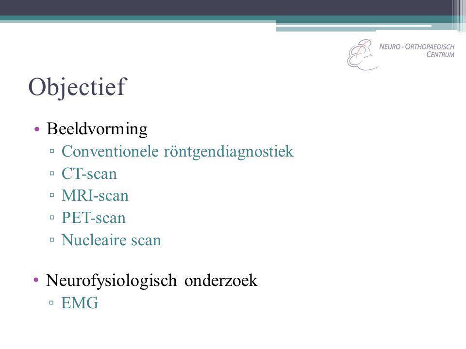 Objectief Beeldvorming Neurofysiologisch onderzoek