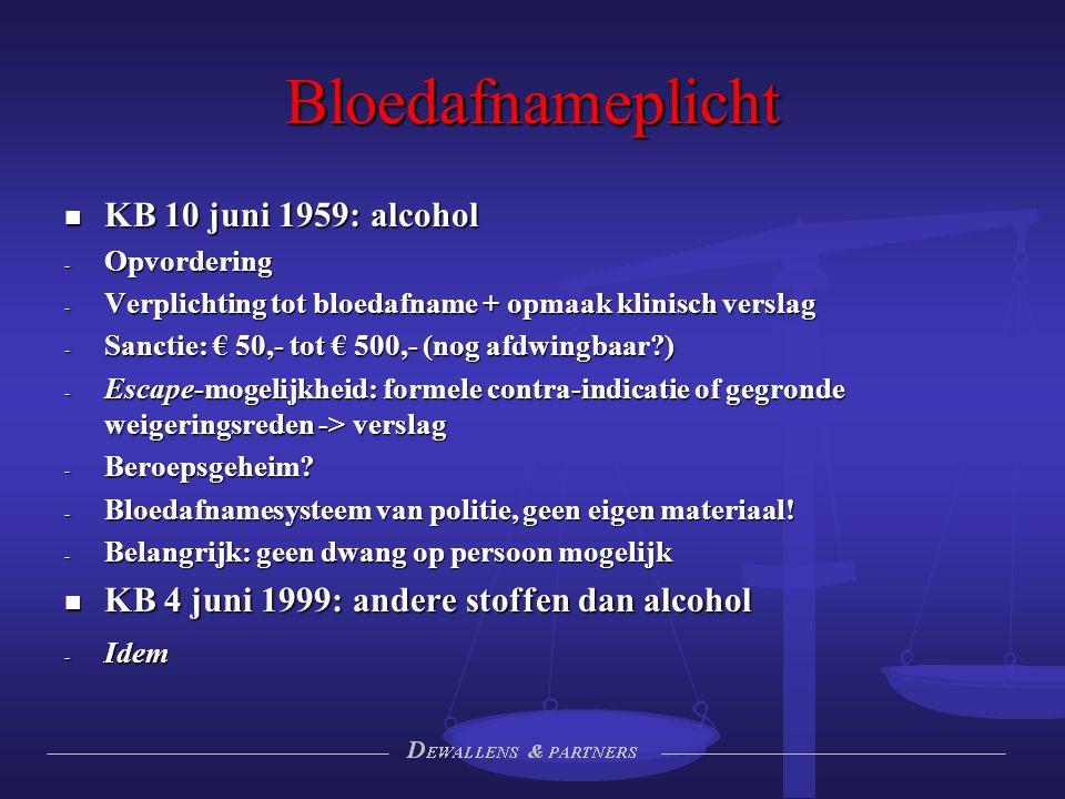 Bloedafnameplicht KB 10 juni 1959: alcohol
