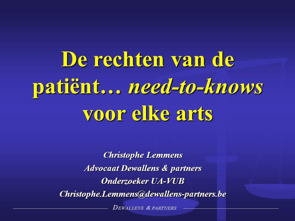 De rechten van de patiënt… need-to-knows voor elke arts