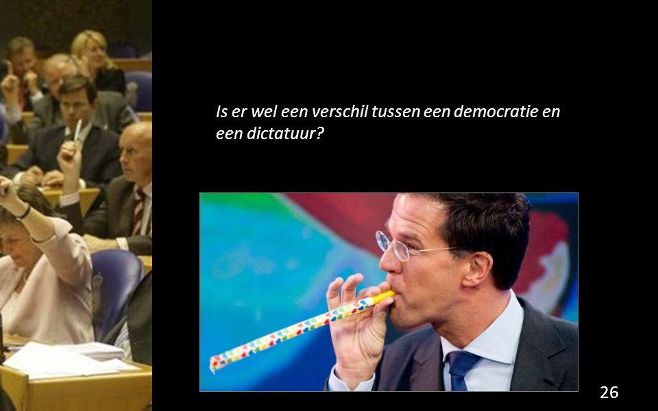 Is er wel een verschil tussen een democratie en een dictatuur