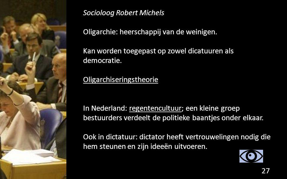 Socioloog Robert Michels