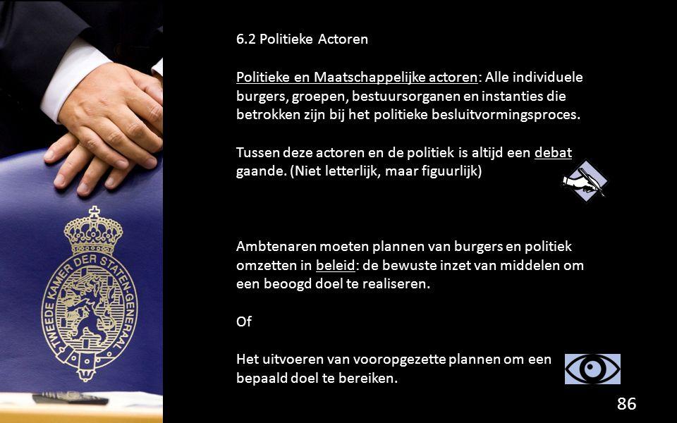6.2 Politieke Actoren