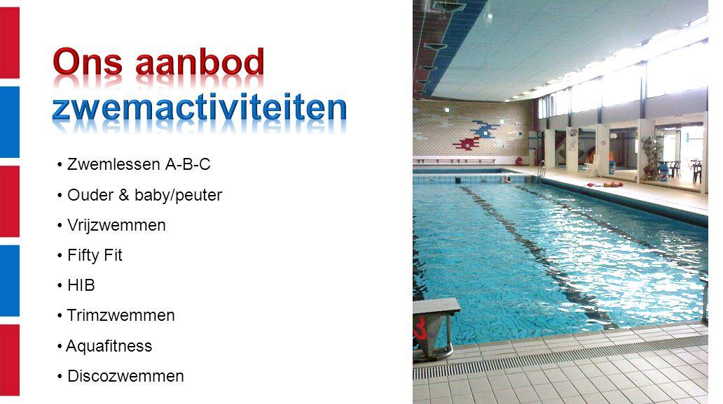 Ons aanbod zwemactiviteiten Zwemlessen A-B-C Ouder & baby/peuter
