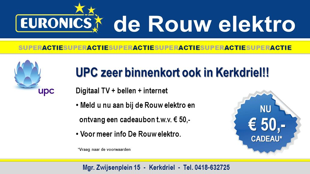Mgr. Zwijsenplein 15 - Kerkdriel - Tel. 0418-632725