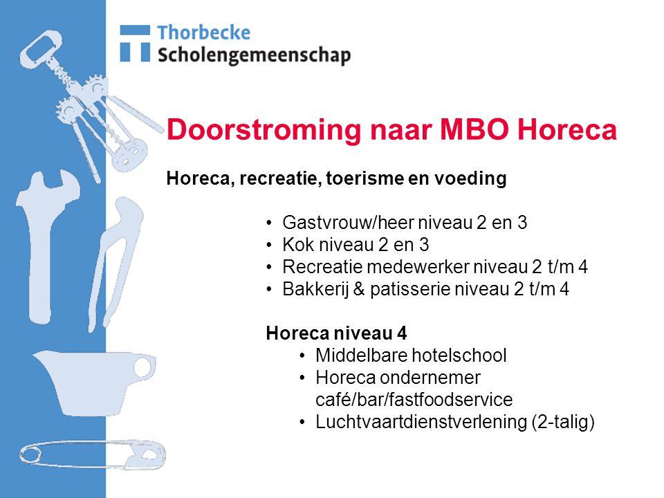 Doorstroming naar MBO Horeca