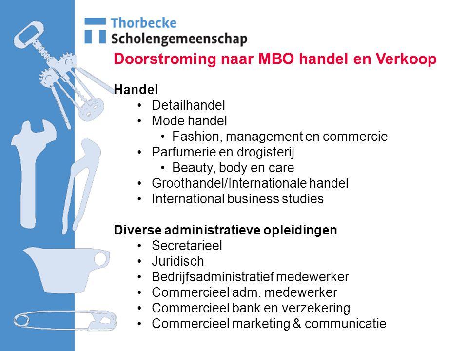 Doorstroming naar MBO handel en Verkoop