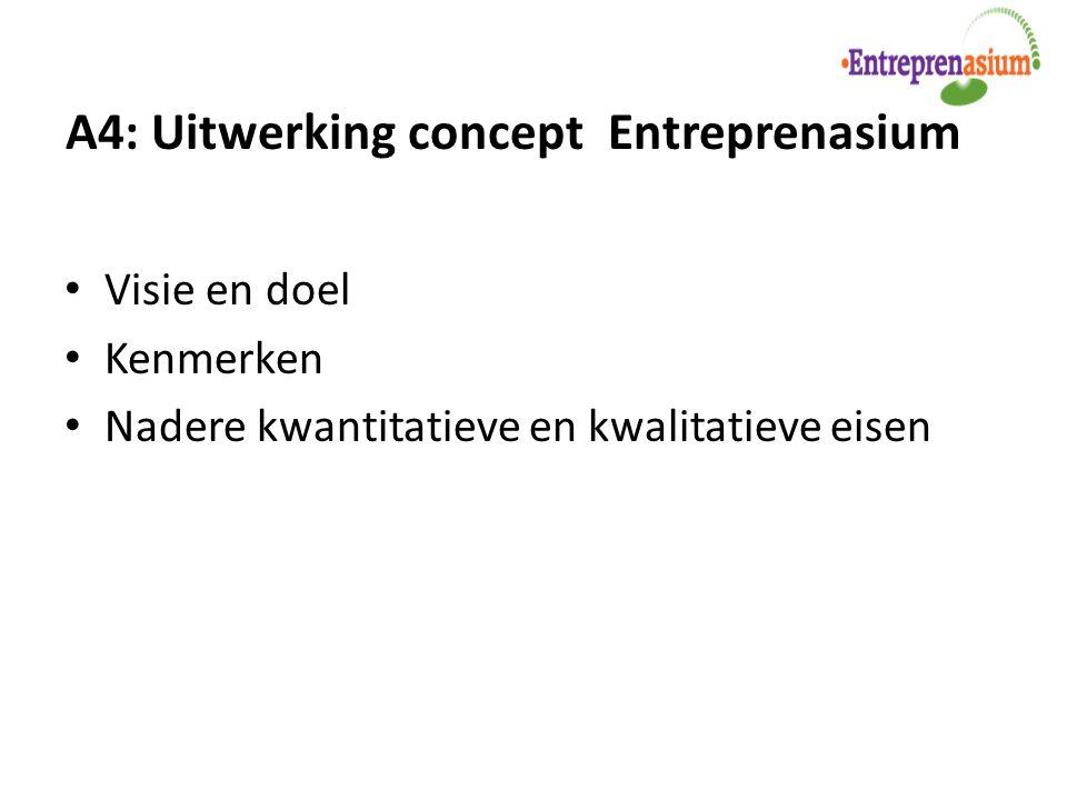 A4: Uitwerking concept Entreprenasium