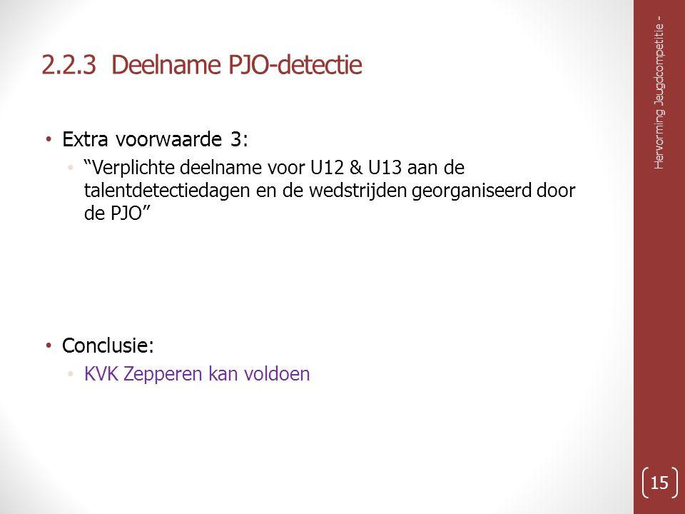 2.2.3 Deelname PJO-detectie