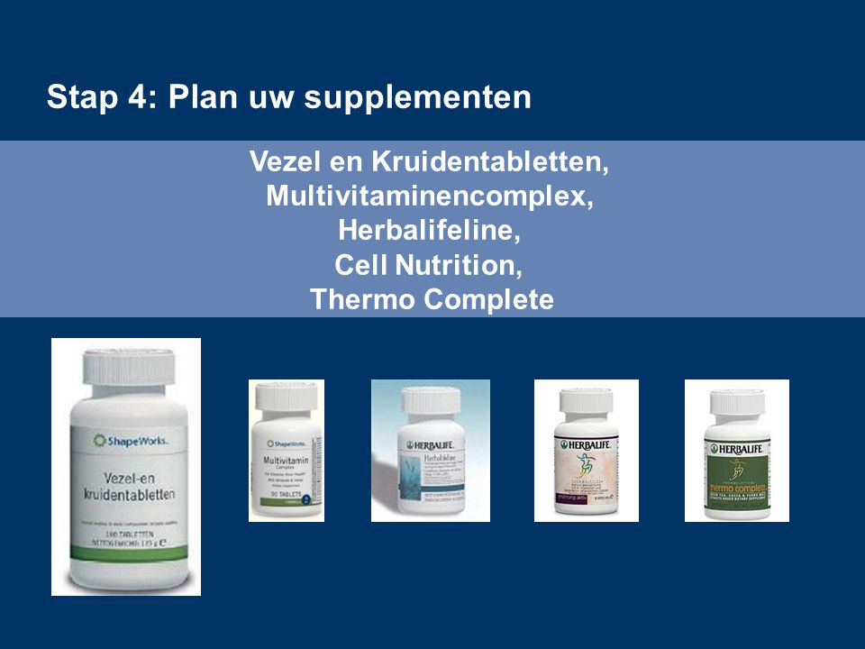 Stap 4: Plan uw supplementen