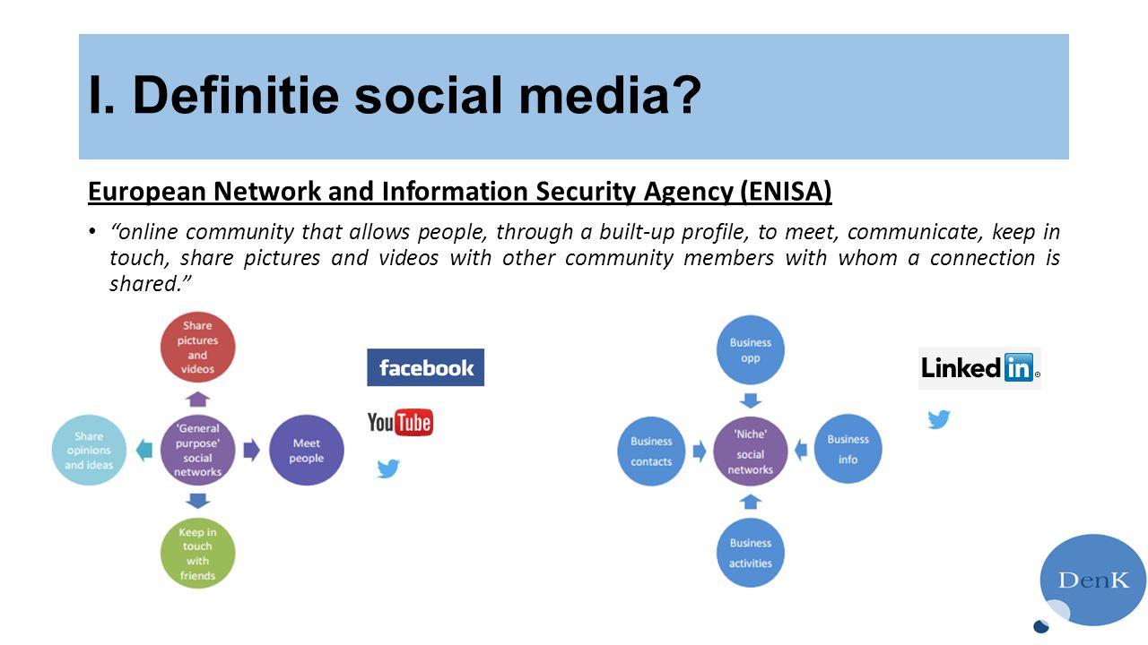 I. Definitie social media
