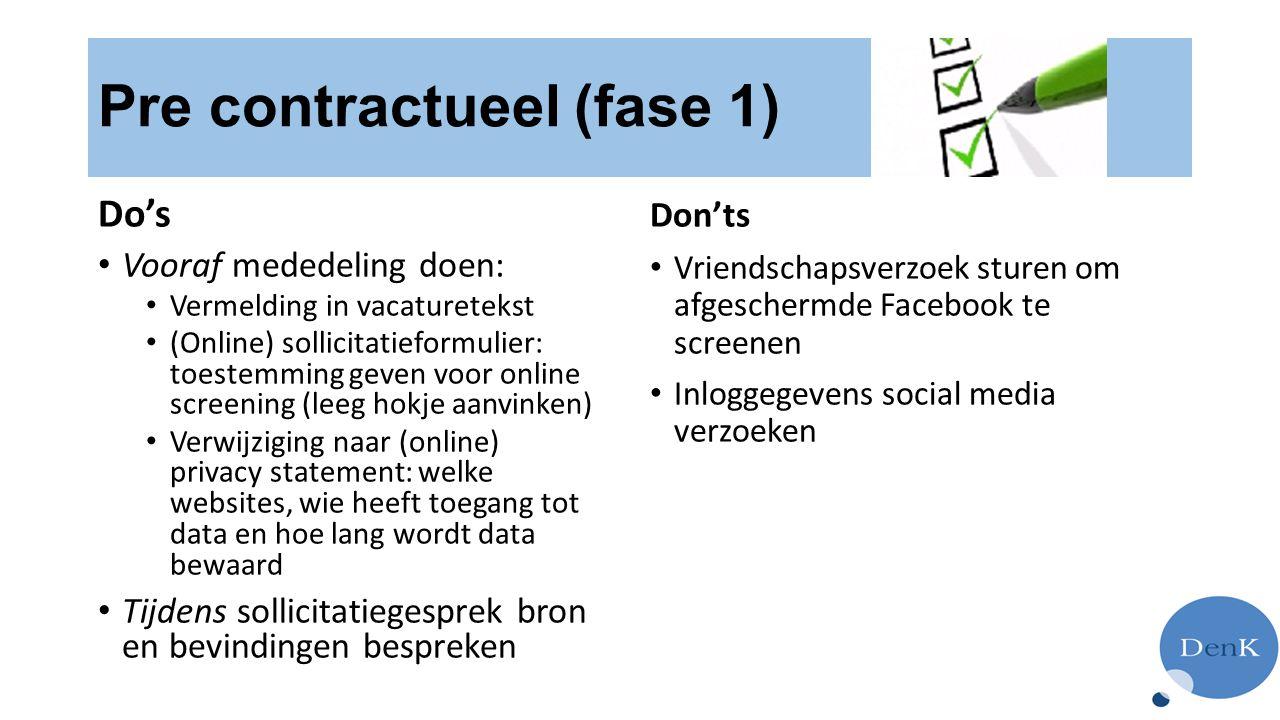Pre contractueel (fase 1)