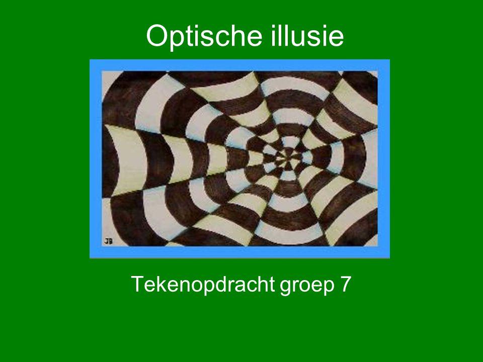 Optische illusie Tekenopdracht groep 7