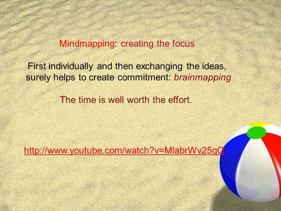 Mindmapping: creating the focus