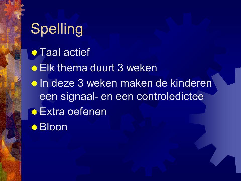 Spelling Taal actief Elk thema duurt 3 weken