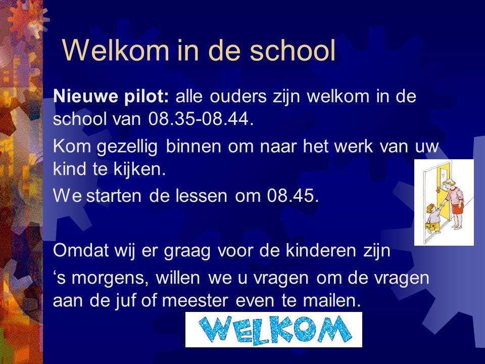 Welkom in de school
