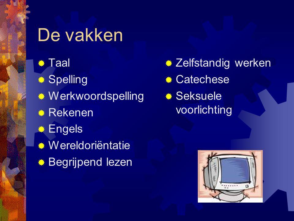 De vakken Taal Spelling Werkwoordspelling Rekenen Engels