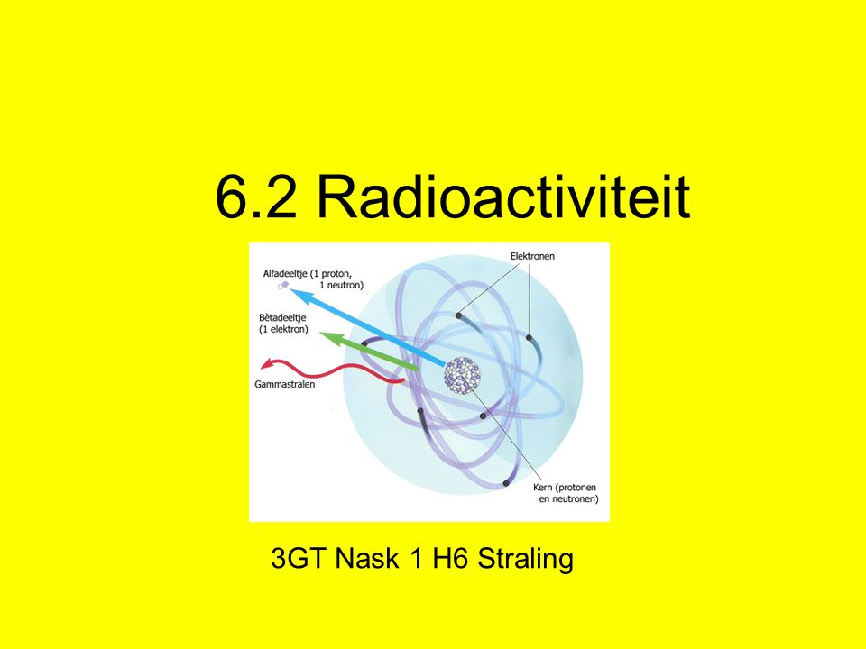 6.2 Radioactiviteit 3GT Nask 1 H6 Straling