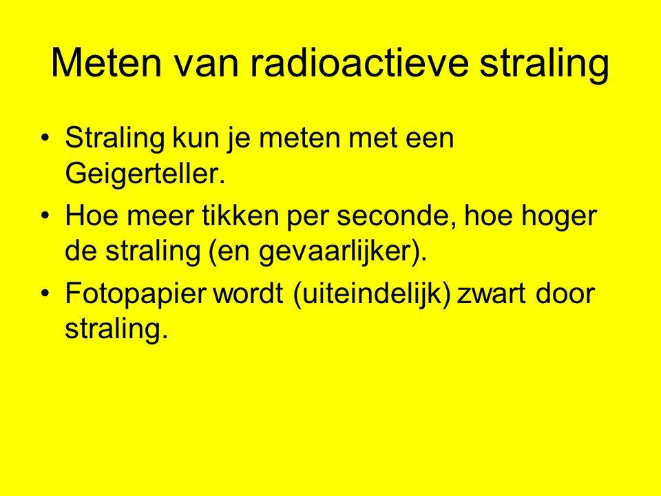Meten van radioactieve straling